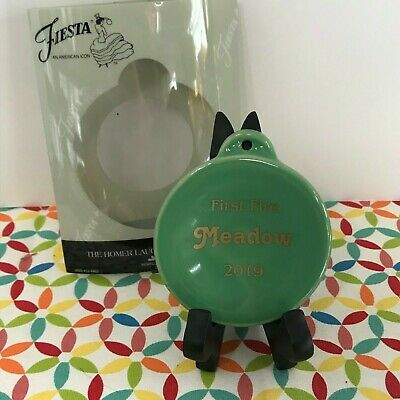 Fiestaware Meadow First Fire Ornament Fiesta 2019 Green Christmas Holiday NIB