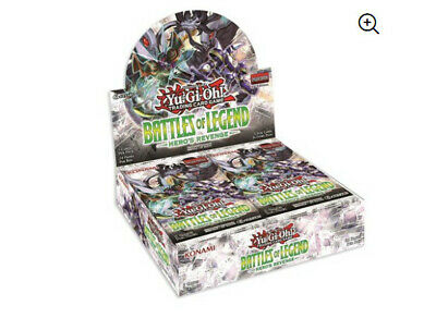 Battles of Legend -Hero's Revenge Booster Box for YuGiOh - Sealed -Free Shipping