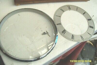 clock parts  smiths bezel  and  dial  with  glass 160mm bezel