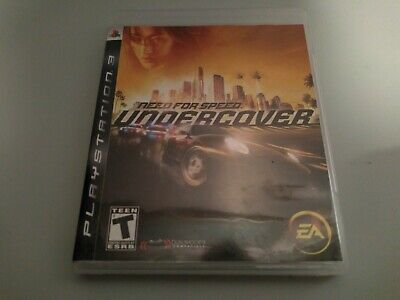 Need For Speed Undercover (Sony Playstation 3, PS3) Game, Case, & Book