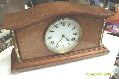 Mantel  Clock Solid  Wooden  Working  Balance Movement
