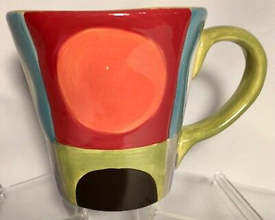 Pier 1 Urban Dots Coffee Mug Ceramic Handcrafted Earthenware Cup NEW