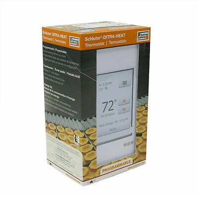 Programmable LCD Touchscreen Ditra Heat Thermostat Bright White Indicator Light