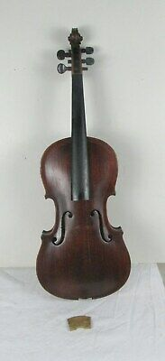 antique VIOLIN 4/4 FULL SIZE ESTATE FOR PARTS WITH WOOD CASE