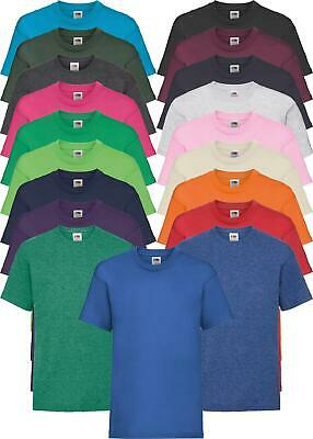Fruit Of The Loom Childrens Kids 100% Cotton Short Sleeve Valueweight T-Shirt