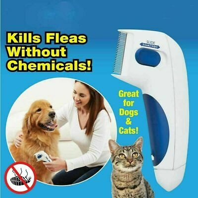 Electronic Electric Pet Brush Cat Dog Brush Comb Fleas Hair Removal Portable