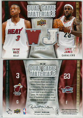 2009 Upper Deck - Dual Game Materials - LeBron James & Dwyane Wade