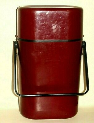 Decor Wine Chiller Cooler BYO Carrier 2 Bottles Burgundy Red w. Chill Pack ReTRo