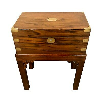 English 19th C. Mahogany Lap Desk On Stand