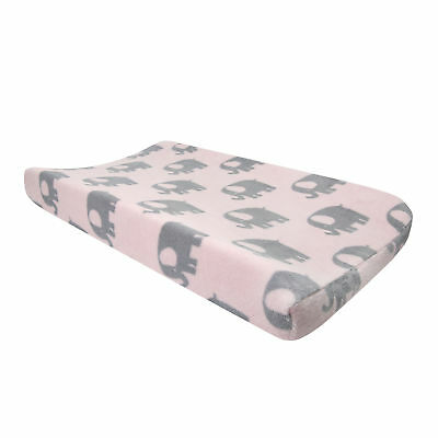Bedtime Originals Eloise Pink/Gray Elephant Diaper Changing Pad Cover