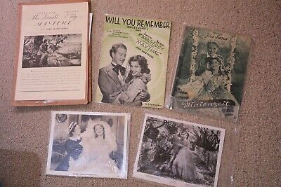 Jeanette MacDonald Nelson Eddy Maytime music sheets & movie cards