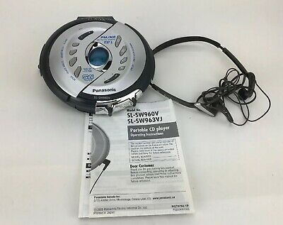 Panasonic Shock Wave SL-SW960V Portable MP3 FM/AM Radio CD Player Walkman Tested