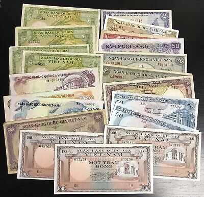 VietNam South Lot Of 20 Banknotes 1955-58 VF - Choice UNC. (#1671)