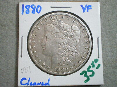 1880 Morgan Silver Dollar/Uncertified/ Cleaned---Free Shipping--------