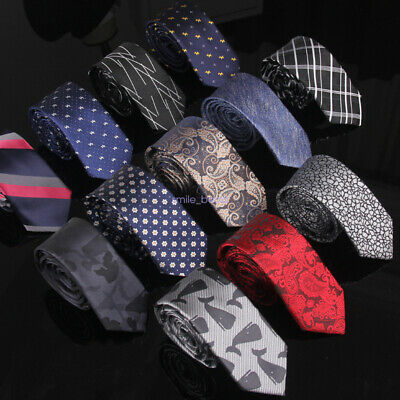 Classic Mens Jacquard Weave Tie Set Woven Stripe Floral Checks Necktie Wedding