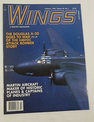 Wings Aviation Magazine Back Issue February 1996 The Douglas A-20 Goes To War
