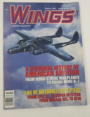 Wings Aviation Magazine Back Issue February 1998 History of American Aviation