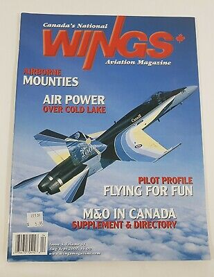 Wings Aviation Magazine Back Issue August / September 2000 Airborne Mounties