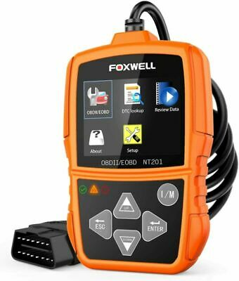 Foxwell NT201 Auto OBD2 Scanner Check Car Engine Light Fault Code Reader OBD...
