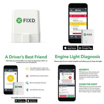 FIXD OBD2 Professional Bluetooth Scan Tool & Code Reader for iPhone and...