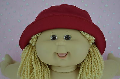 """Play n Wear Dolls Clothes To Fit 16"""" Cabbage Patch RED DRILL SUN HAT"""