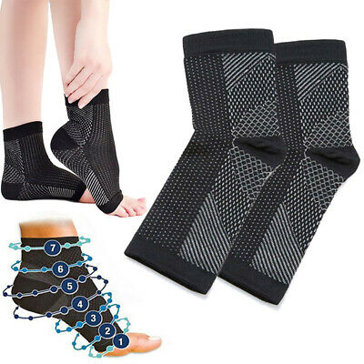 Vita Wear Copper Infused Magnetic Foot Support Compression Leg Relief Socks L0w