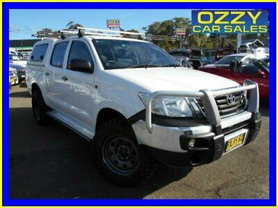 2013 Toyota Hilux GGN25R MY12 SR (4x4) White Automatic 5sp A Dual Cab Pick-up