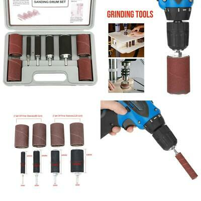 20pcs Spindle Sanding Drum Sander Tool Kit Set Rubber drums+Sanding sleeves...