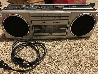 JVC RC-45 AM/FM Radio With Cassette Player Tested! Works!