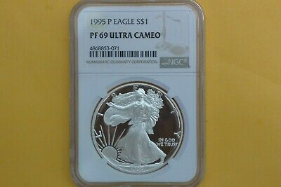1995-P Proof Silver American Eagle PF-69 UCAM NGC