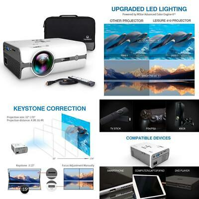 VANKYO Leisure 410 LED Projector with 2800 Lux, Carrying Bag and HDMI Cable,...