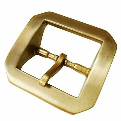 "Heavy Duty Solid Brass Single Prong Belt Buckle For Leather Belt 1/2"" (38 mm)"