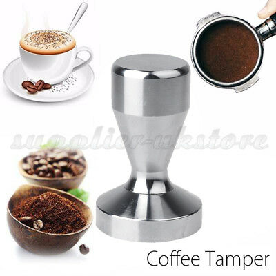 New Stainless Steel Coffee Bean Tamper Espresso Latte Cappuccino Americano 51mm