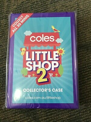 New Coles little shop 2 Mini Collectable Collector  Case ( Only Case  )