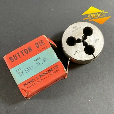 "*Near New* P&N 3/16"" Unf Button Die 2"" Diameter Made In Australia P&Nbd2"