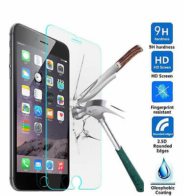 5 X For iPhone 8 Tempered Glass Screen Protector - CRYSTAL CLEAR