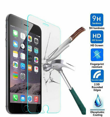 4 X For iPhone 8 Tempered Glass Screen Protector - CRYSTAL CLEAR