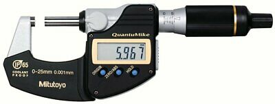 NEW Mitutoyo Digital Micrometer QuantuMike MDE25MJ (293-140) F/S from JP