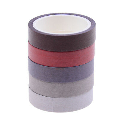 5pcs 10mm*5m Solid Color Tapes DIY Scrapbooking Dairy Adhesive Tape XM