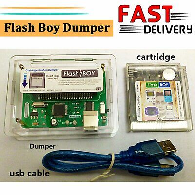 Flash Boy Dumper Burner Cartridge mit USB Kabel für Nintendo GBC Game Boy Color