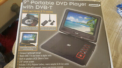 Zennox Deluxe 9'' 12v Portable LCD TV DVD Combi Player Freeview Swivel screen