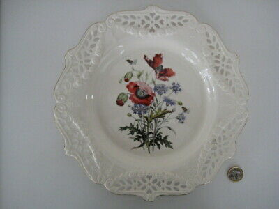 Royal Creamware Pierced Ld Ed Wall Plate The Floral Collection Poppies Bradex