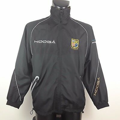 Egremont Rugby Union Erufc Track Suit Top Jacket Kooga Black Size Small S