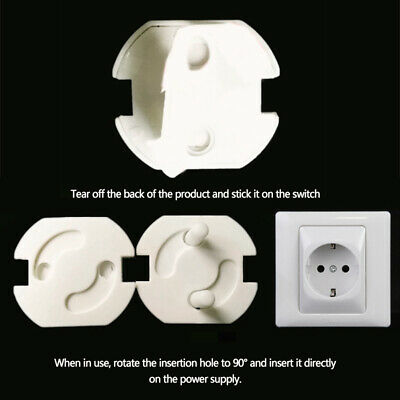 10PCS Safety Child Baby Proof Electric Outlet Socket Plastic Cover for EU Plug U