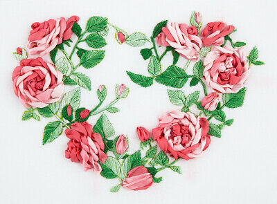 Rose Heart Living Picture Ribbon Embroidery Kit JK-2021 By Panna