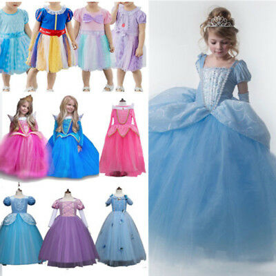 Kids Baby Girls Cinderella Princess Party Fancy Tutu Dress Up Cosplay Costume AU