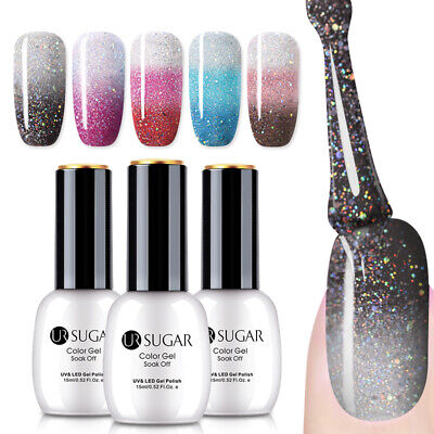 UR SUGAR 15ml Thermal Gel Nail Polish Color Changing 3-layers Soak Off UV Gel