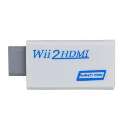 Wii to HDMI Converter Adapter 1080p 720p HD Upscale 3.5mm Audio Output