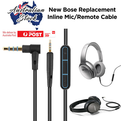 Cable Remote Mic For Bose QuietComfort 25 35 QC25 QC35 Headphone Apple Devices