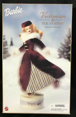 BARBIE Victorian Ice Skater Special Edition With Box Musical skating doll Avon